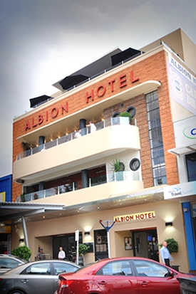 Front of the Albion Hotel Albury